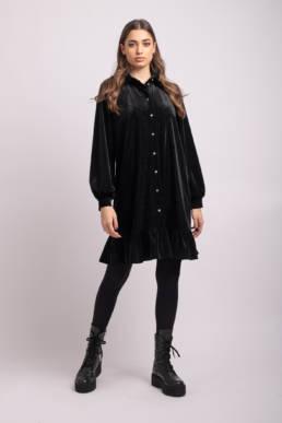 rochie neagra tip camasa