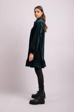 rochie verde tip camasa
