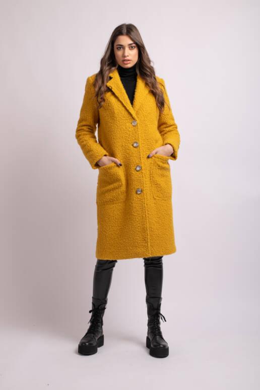 palton galben mustar uai