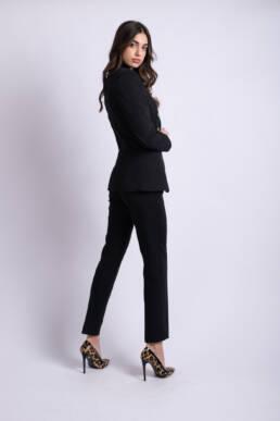 pantaloni sacou negru