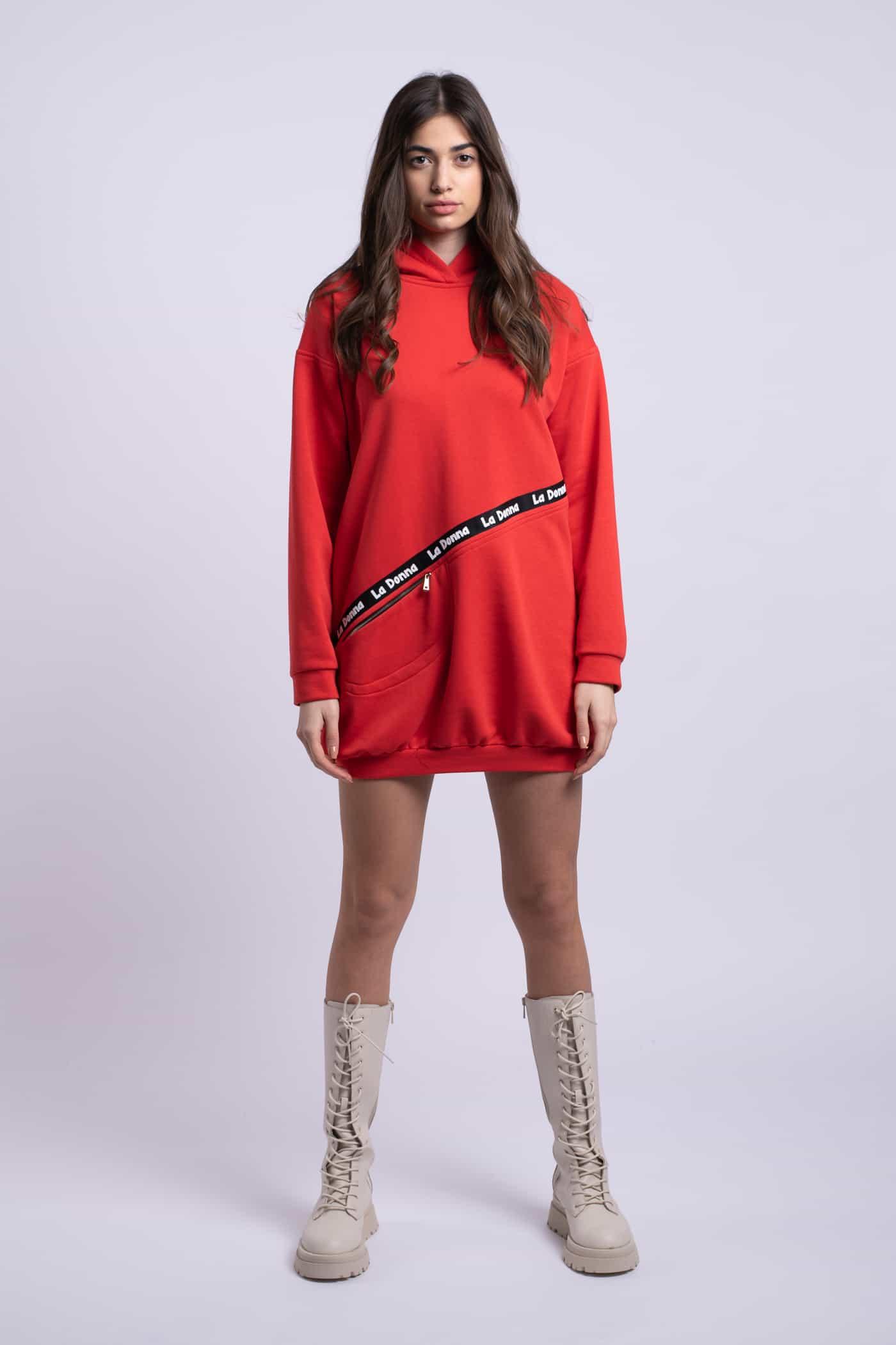 rochie cugluga rosie