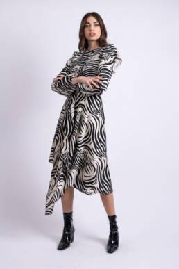 rochie midi zebra uai