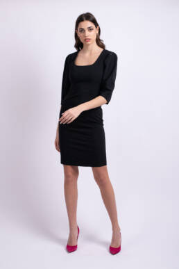 rochie neagra scurta uai