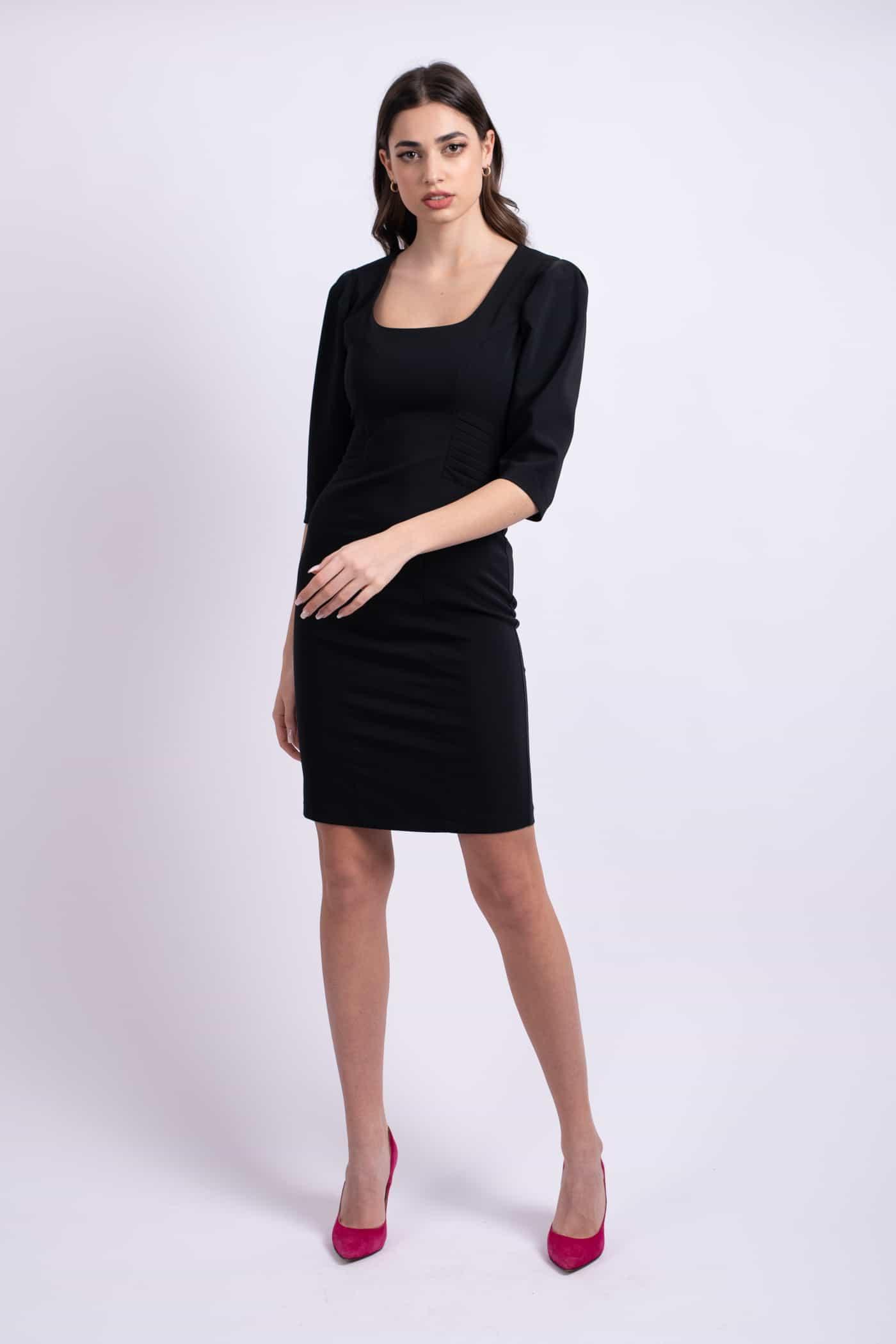 rochie neagra scurta