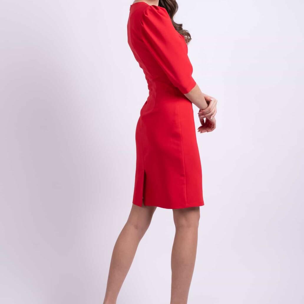 rochie rosie scurta
