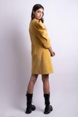 rochie scurta galben mustar