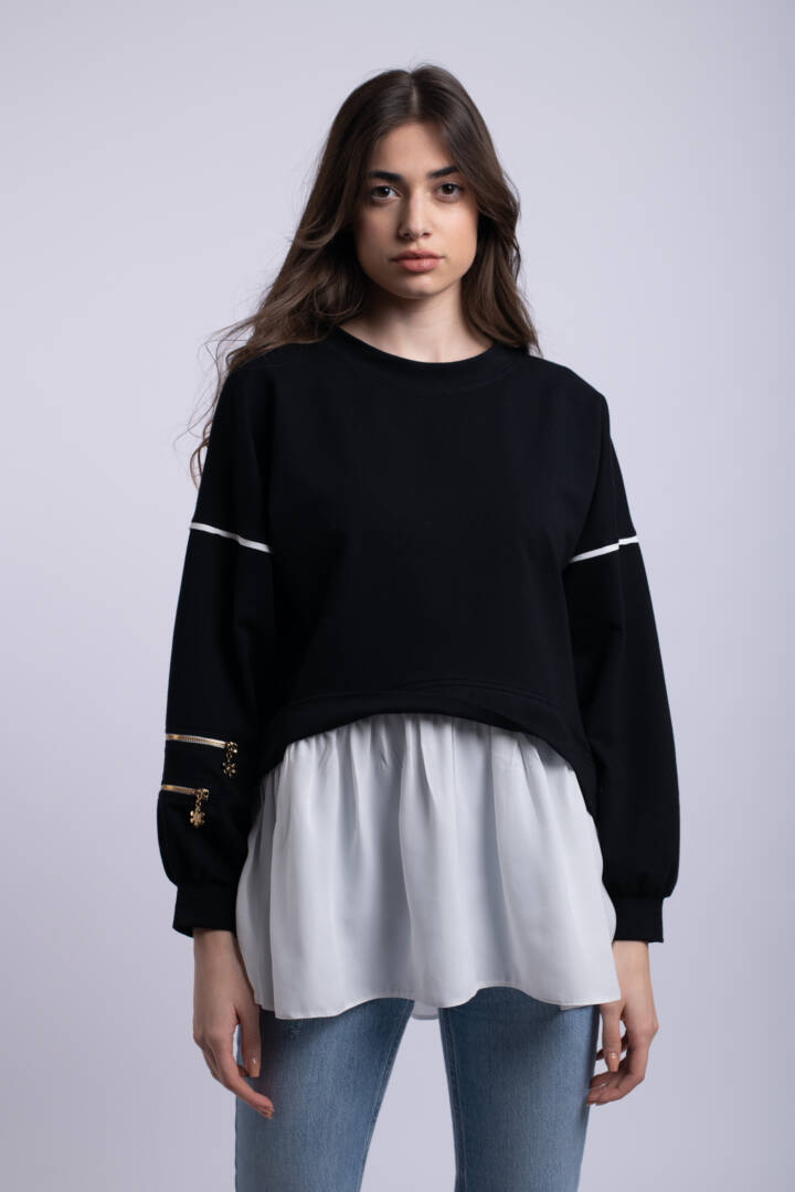 bluza giocosa neagra uai