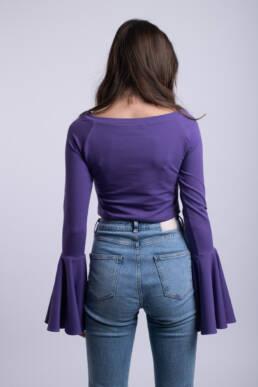 bluza mov croptop ladonna