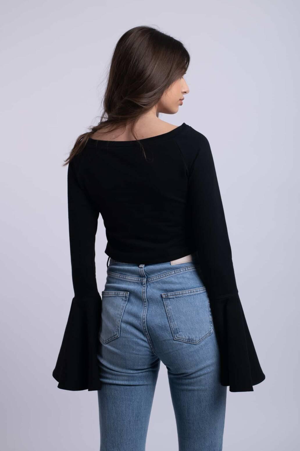 bluza neagra romance simpla