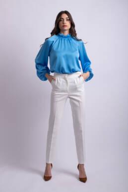 pantaloni albi conici ladonna