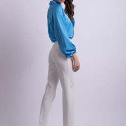 pantaloni albi conici