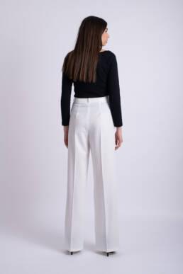 pantaloni albi ladonna lungi