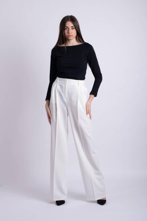 pantaloni albi ladonna uai