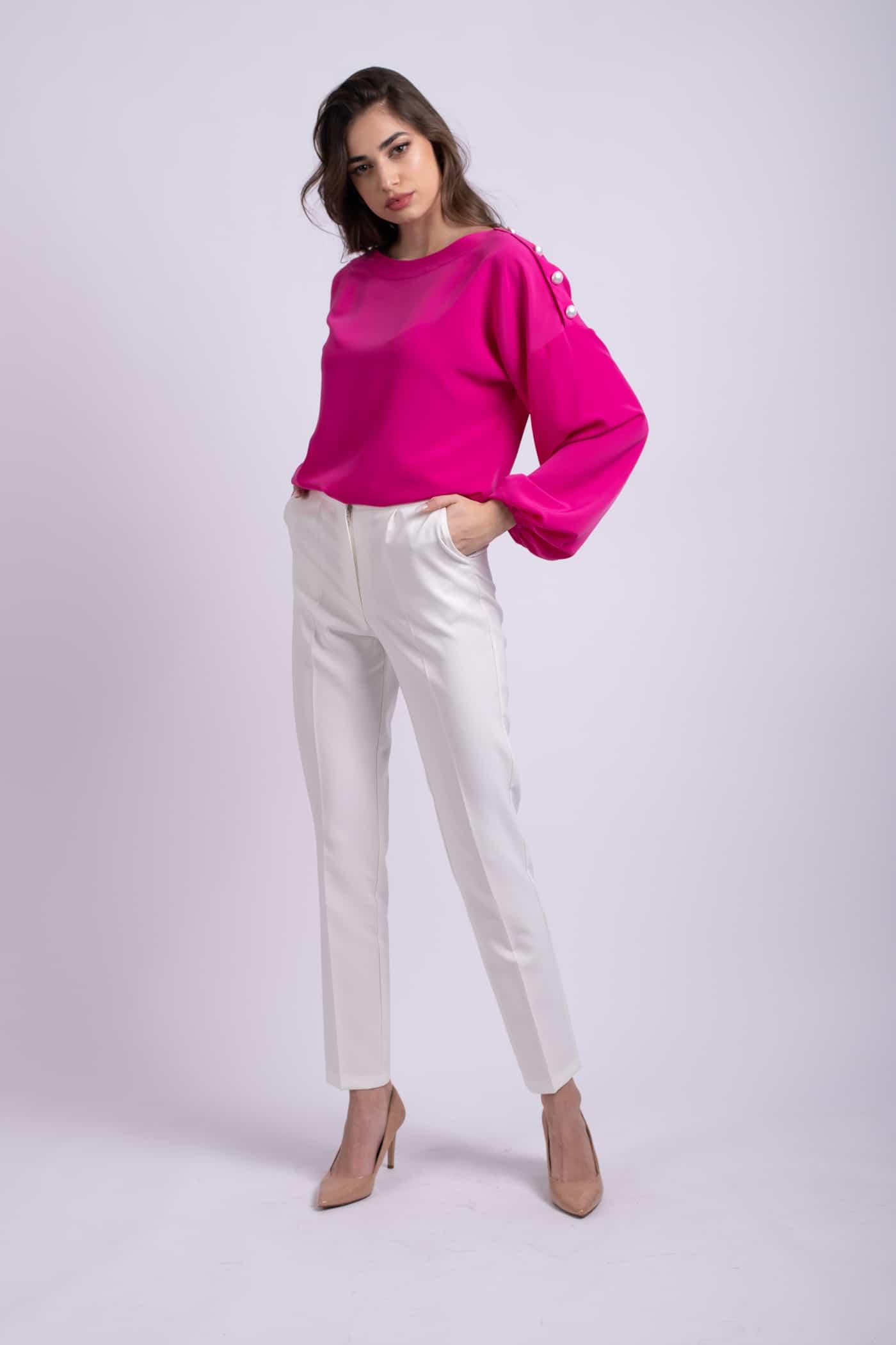pantaloni albi office