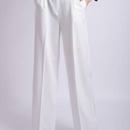 pantaloni lungi albi