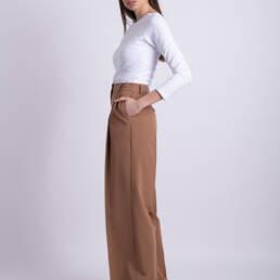 pantaloni maro ladonna