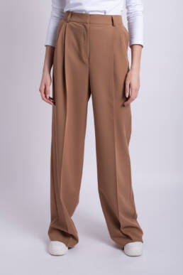 pantaloni maro lungi