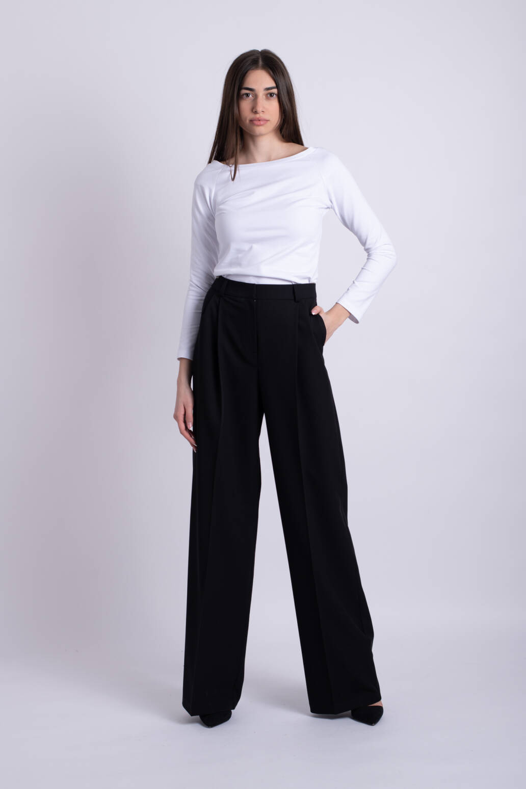 pantaloni negri ladonna uai