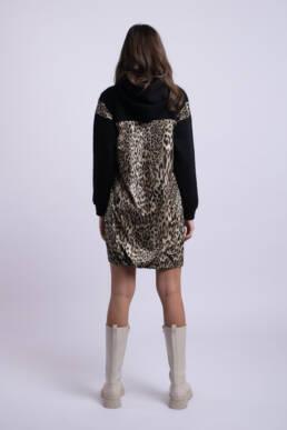 rochie neagra animalprint ladonna