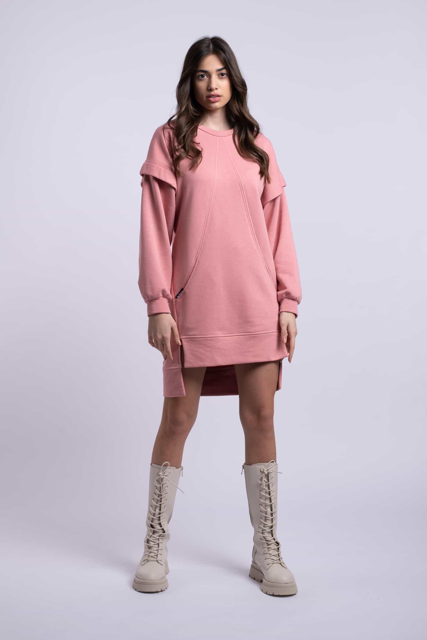 rochie roz scurta