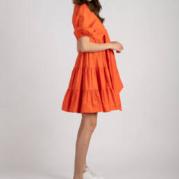 rochie kiss of life portocalie 2