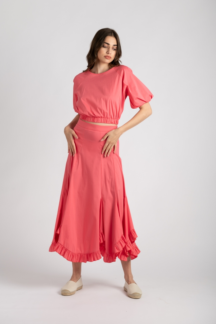 Fusta si top roz You are loved ladonna 1 uai