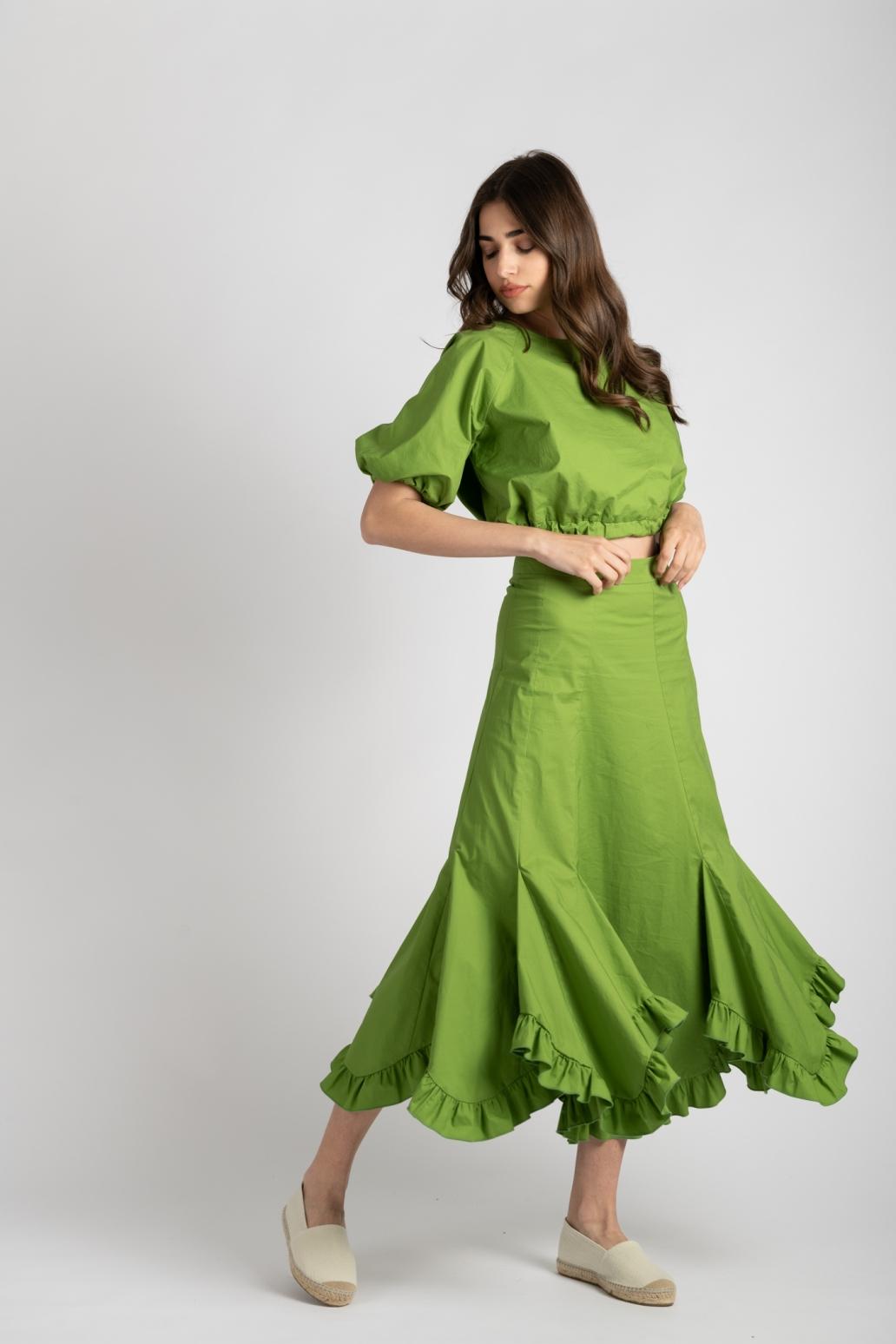 Fusta si top verde You are loved ladonna uai