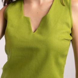 crop top in verde