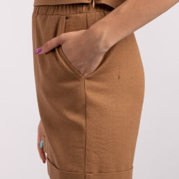 pantaloni scurti maro in